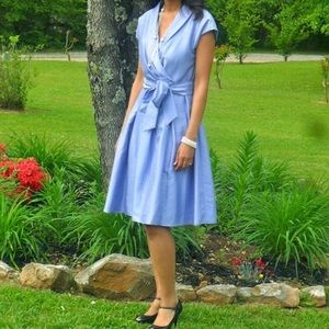 New directions periwinkle dress size 4.